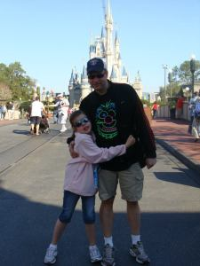 Anna and I at the Magic Kingdom