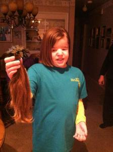 Anna Donated Hair to Locks of Love for Cancer Patients